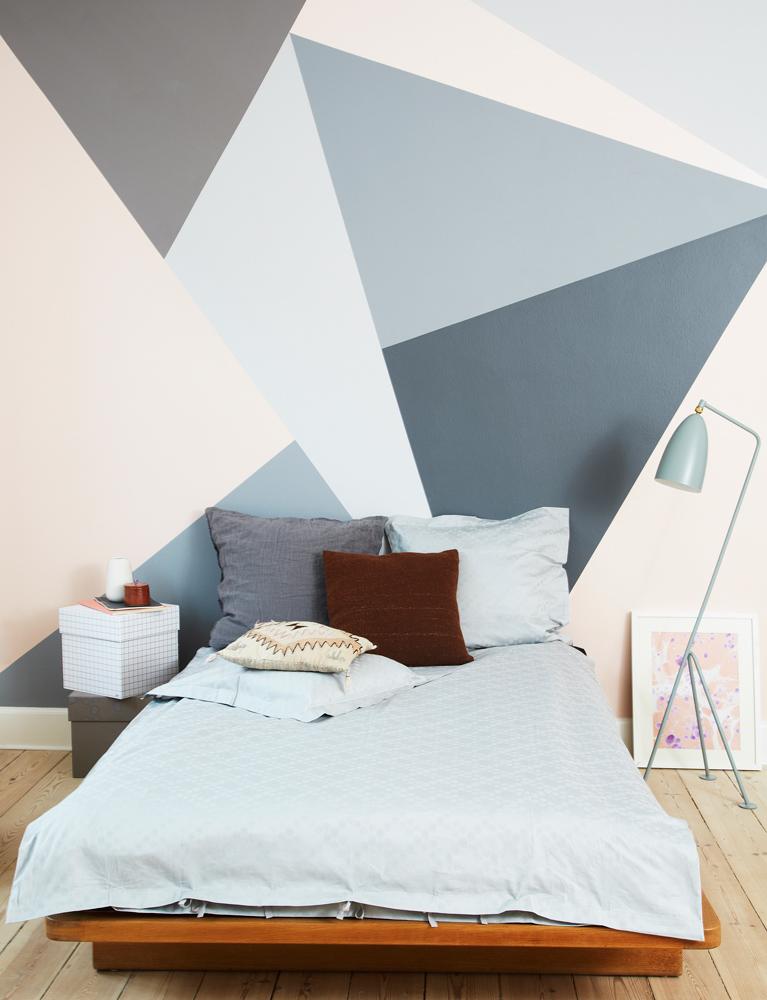 væg dekoration, boligmagasinet, mette Helena, DIY, malede vægge