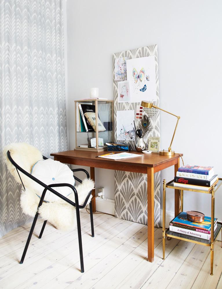 kontor, hjemme kontor, tapeter, kunst