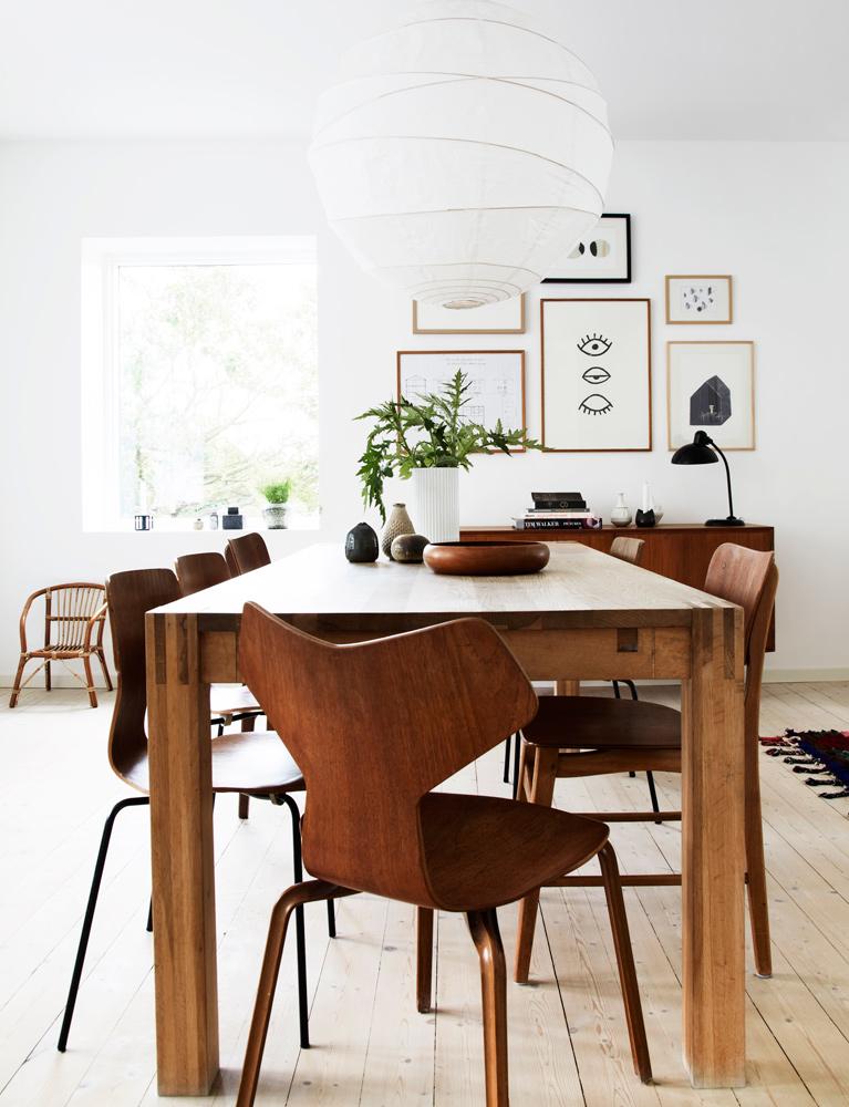 hus, interiør, bolig, DIY, billedvæg, spisebord