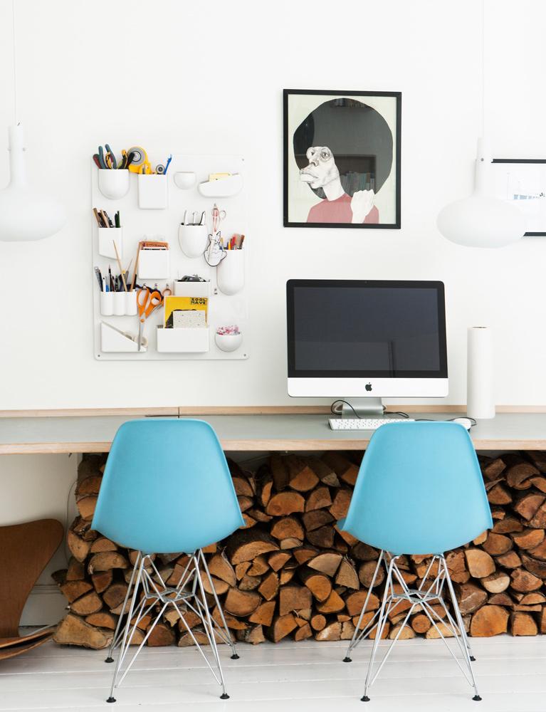 kontor, hjemme kontor, bolig, interiør