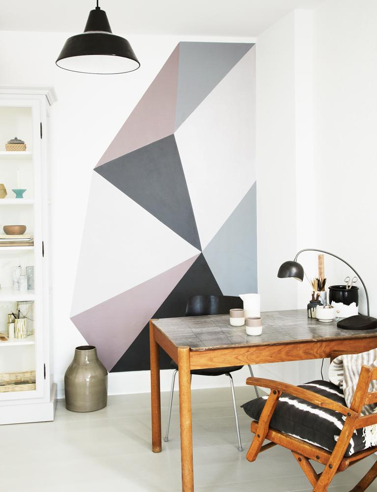 væg dekoration, malede vægge, DIY, boligmasinet