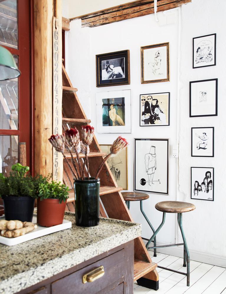 baghus, værksted, hjem, interiør, bolig