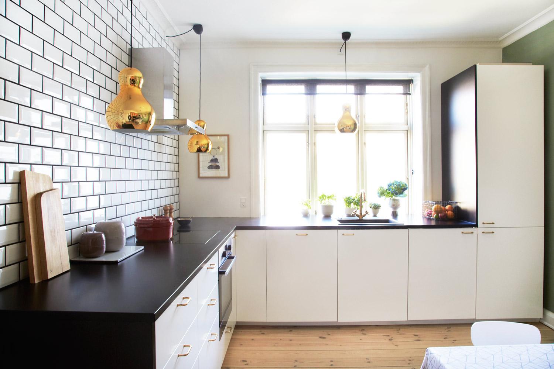Køkken, metro fliser, ikea køkken, boligmagasinet