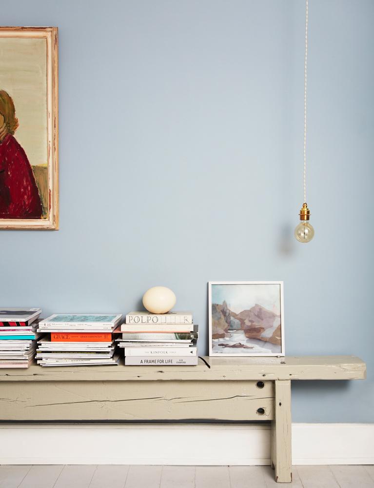 Bolig, interiør, malede vægge, dessign