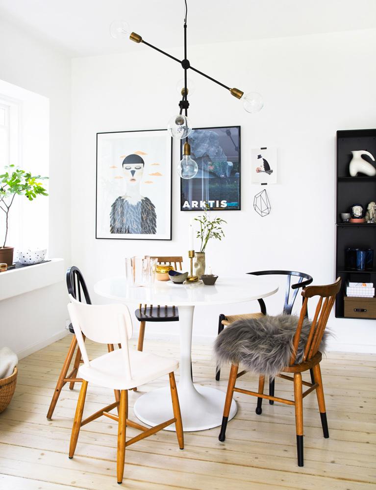 spisebord, interiør, bolig, alt interiør