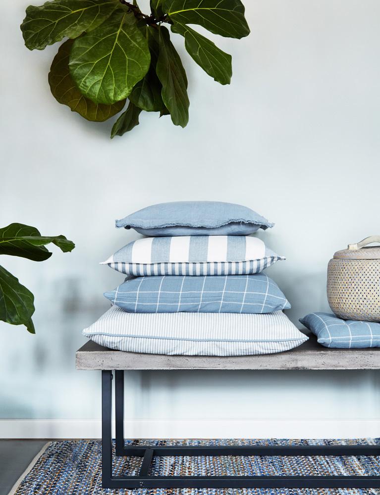 cozy living, puder, interiør